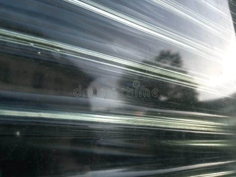 Briques en verre et réflexion détaillée photographie stock libre de droits