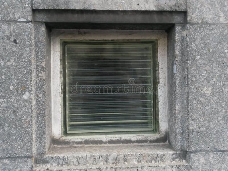 Briques en verre et réflexion détaillée photographie stock