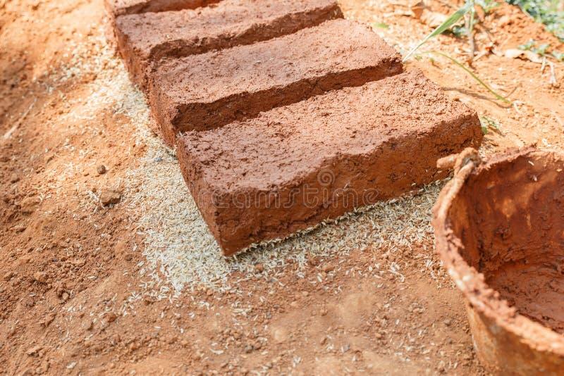 Briques fabriquées à la main photo libre de droits