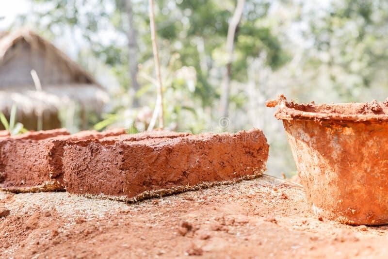 Briques fabriquées à la main photos libres de droits
