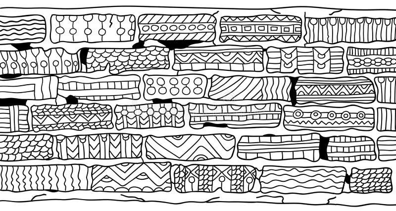 Download Briques Livre De Coloriage Pour Des Adultes Style De Zentangle Illustration de Vecteur - Illustration du visage, modèle: 76084700