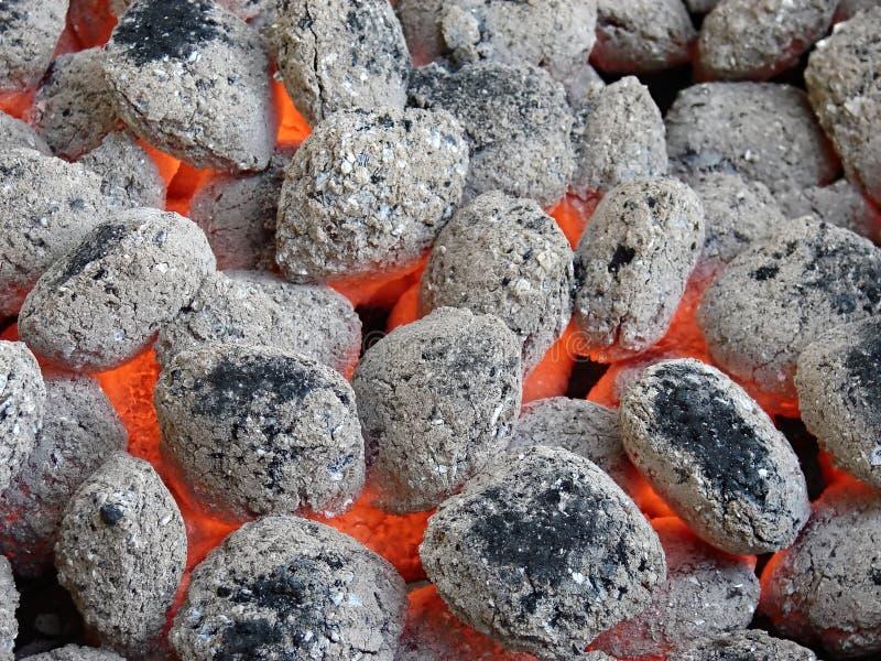 Briquettes de charbon de bois photo libre de droits