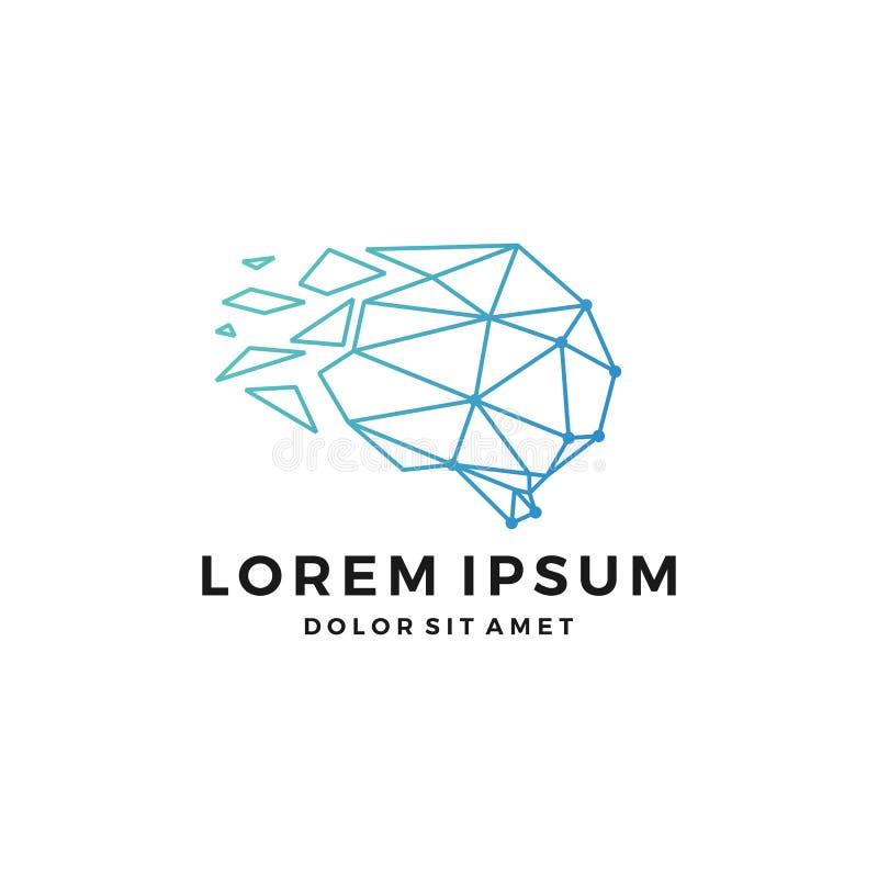brisé par logo principal géométrique téléchargement icône de vecteur de lynx d'ensemble de schéma photographie stock