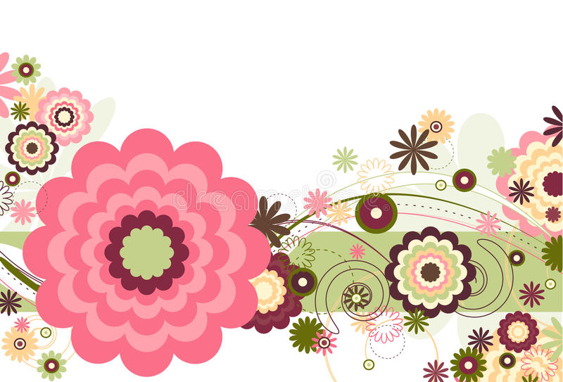 Brisa floral ilustração stock