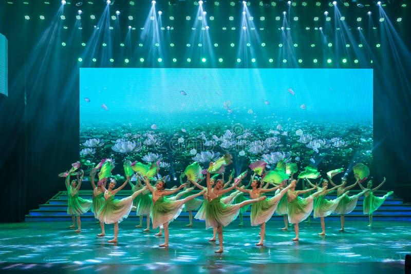 A brisa fresca funde o desempenho Bailado-internacional delicado-clássico do Dia do Trabalhador imagens de stock