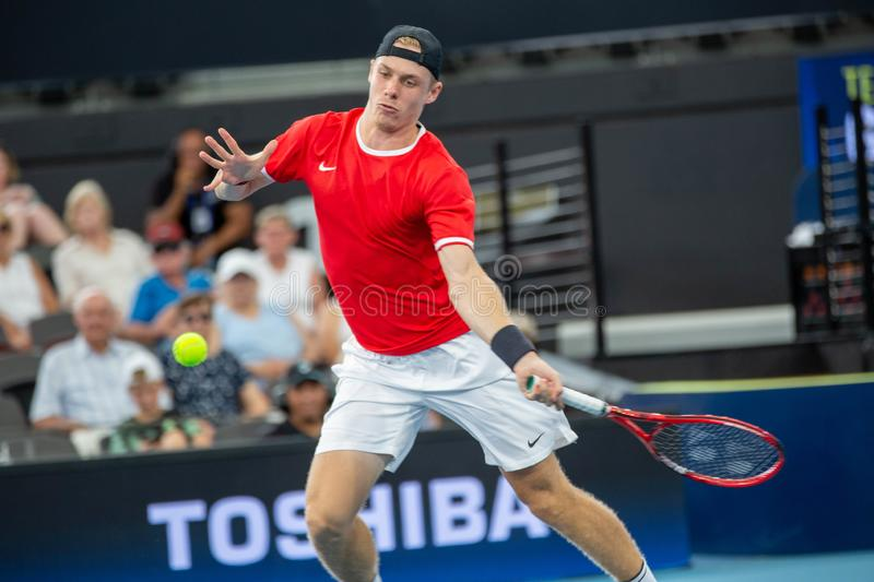 Brisbane ATP Cup 2020, Canada vs Germany royalty free stock images