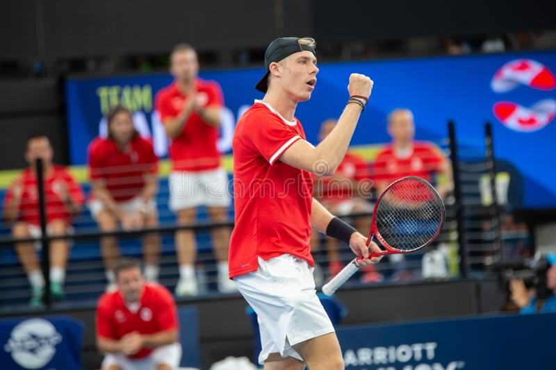 Brisbane ATP Cup 2020, Canada vs Germany stock image