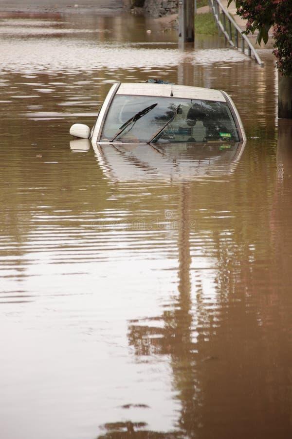 BRISBANE, AUSTRÁLIA - JANEIRO 13: Inundação foto de stock