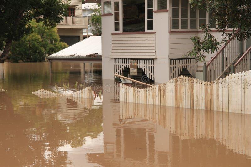 BRISBANE, AUSTRÁLIA - JANEIRO 13: Inundação imagens de stock royalty free