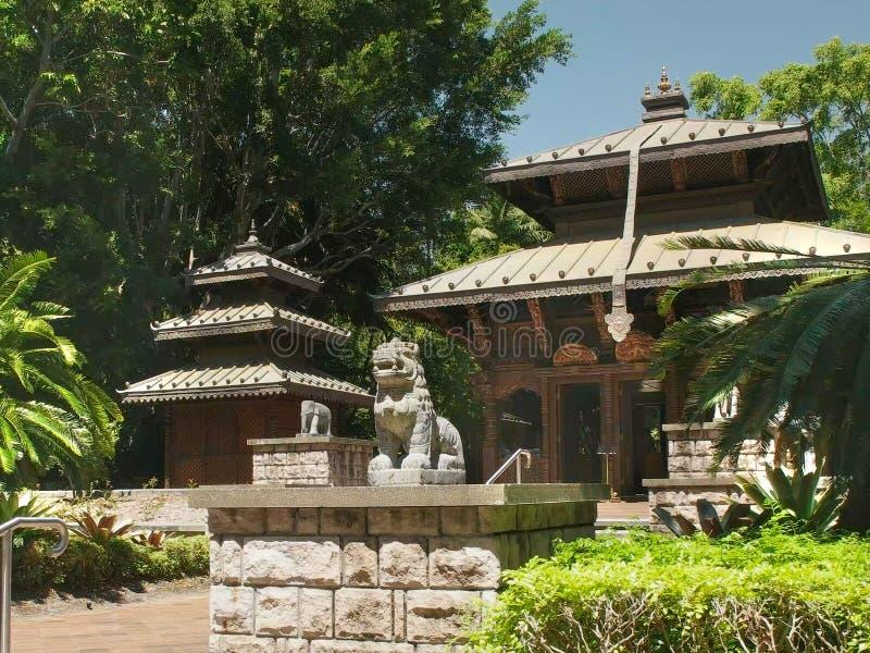 BRISBANE, 7 AUSTRALIË-MAART, 2017: de Nepalese tempel bij zuidenbank in Brisbane stock fotografie