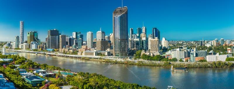 BRISBANE, AUSTRALIA - 29 dicembre 2016: Immagine areale panoramica di Bris fotografia stock libera da diritti