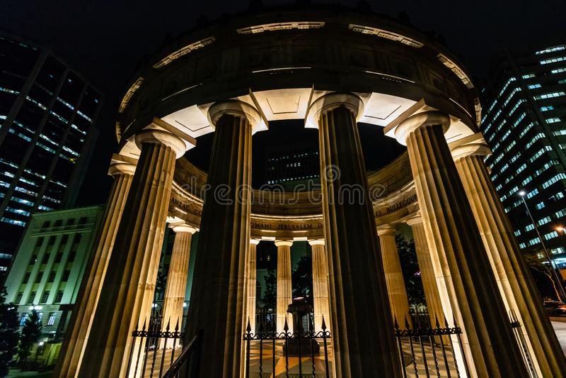 Brisbane, Australia - 2019. Anzac memorial for Australian and New Zealand Army Corps, Brisbane, Australia. royalty free stock image