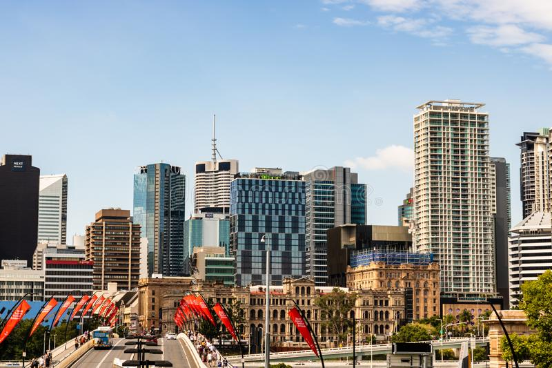 Brisbane, Australia - 2019. Travel photography of Brisbane city, Queensland, view over the business center. royalty free stock photography