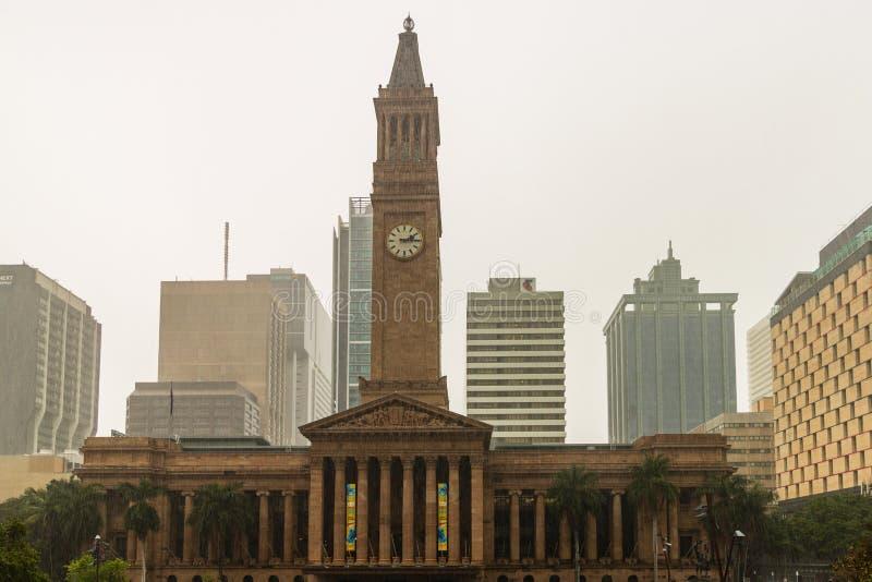 Brisbane, Australie - 2019 Ville hôtel dans l'Australie de Brisbane du Roi George Square photos libres de droits