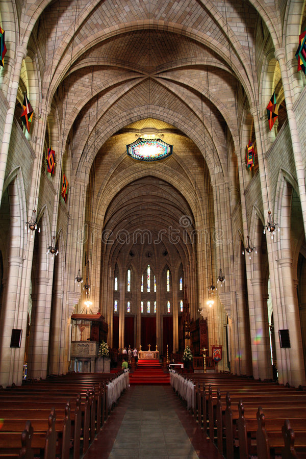 Brisbane cathedral royalty free stock photography