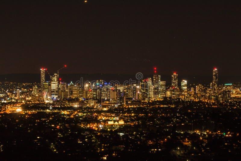 Brisbane CBD Dusk-2 stock photo