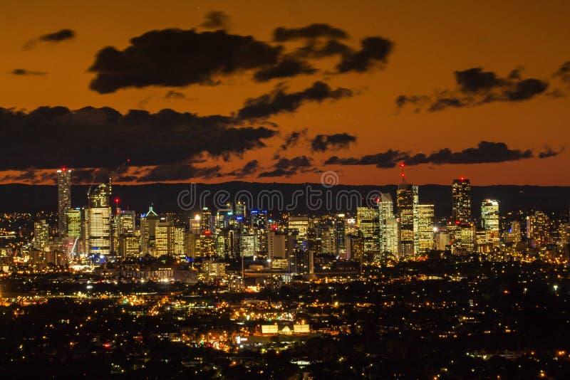 Brisbane CBD półmrok zdjęcia royalty free