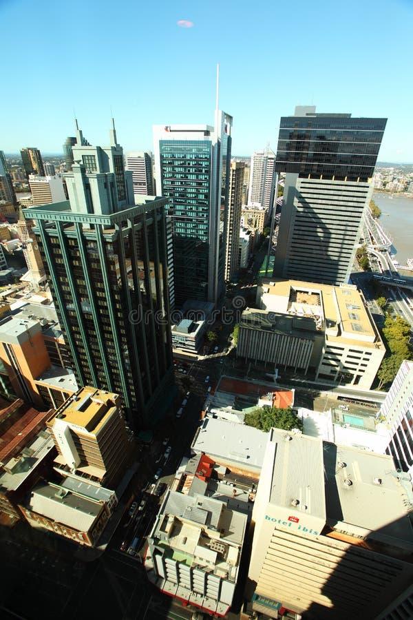 Brisbane City aerial view royalty free stock photos