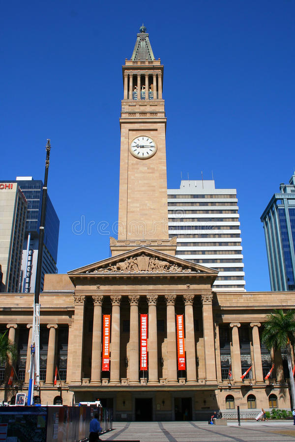 Brisbane City Hall royalty free stock photography