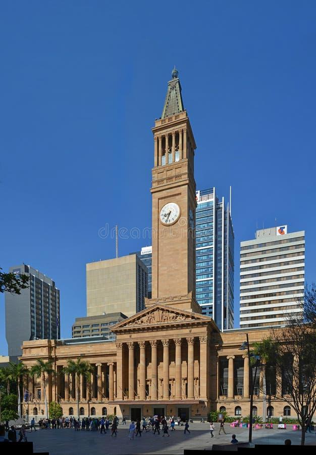 Brisbane City Hall, Tower & Square, Queensland Australia stock image