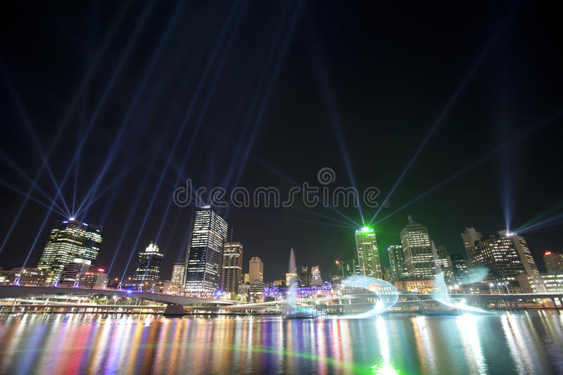 Brisbane City of Lights Show royalty free stock image