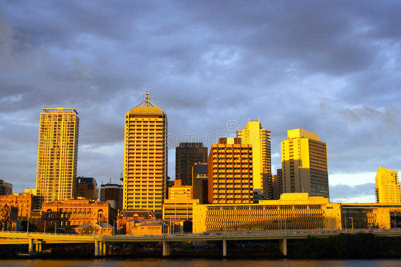 Download Brisbane City At Night Stock Images - Image: 18250894
