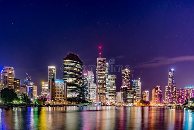 Brisbane city night life stock photos