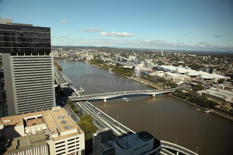 Brisbane City and River view royalty free stock images