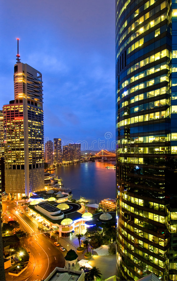 Brisbane City Skyline royalty free stock photography