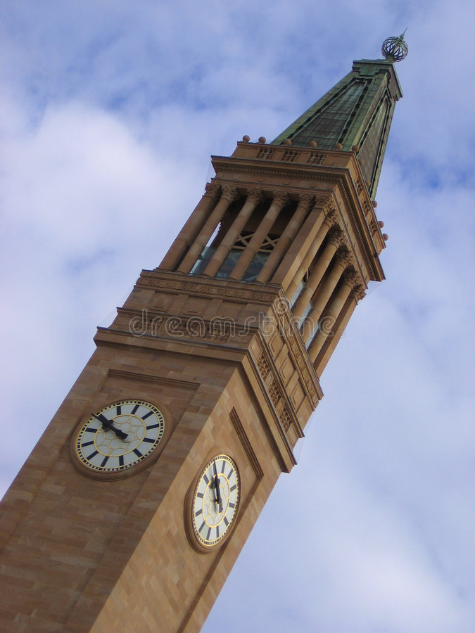 Free Brisbane Clock Tower 2 Royalty Free Stock Photo - 935695