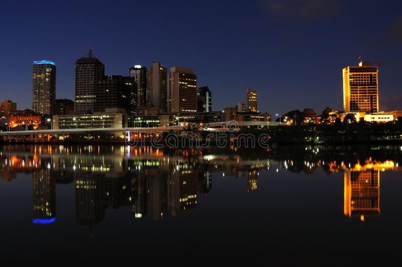 Brisbane en Nigth fotos de archivo