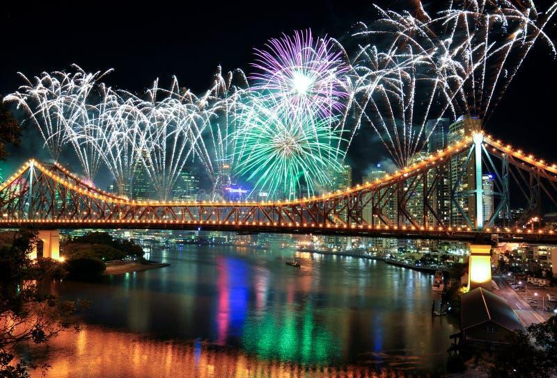 brisbane festiwalu riverfire obrazy stock