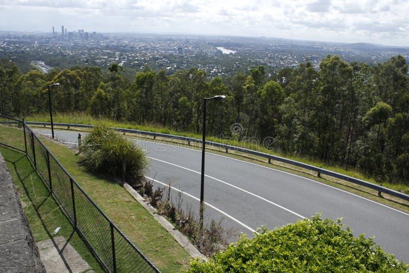 Brisbane horisont från Mt.-sothöna-Tha fotografering för bildbyråer