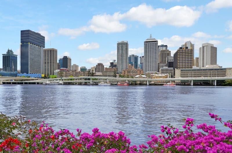 Brisbane horisont - Queensland Australien royaltyfri foto