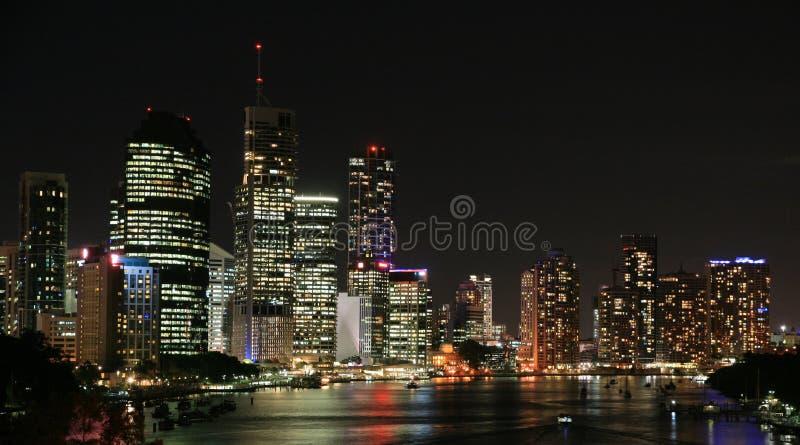 Download Brisbane Miasta Noc Linia Horyzontu Zdjęcie Stock - Obraz: 13970788