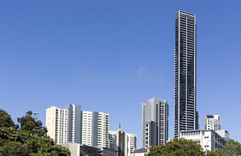 Brisbane Mieszkaniowy wierza fotografia royalty free