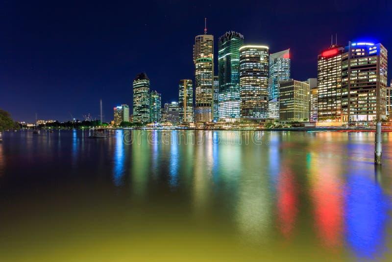 Download Brisbane at night stock image. Image of highrise, motion - 25823607