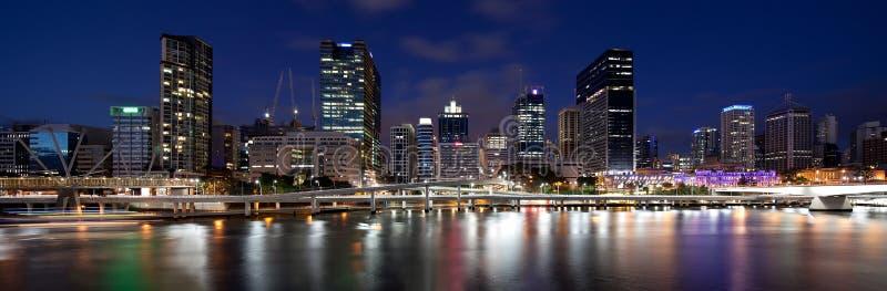 Brisbane panorama från Southbank arkivfoto