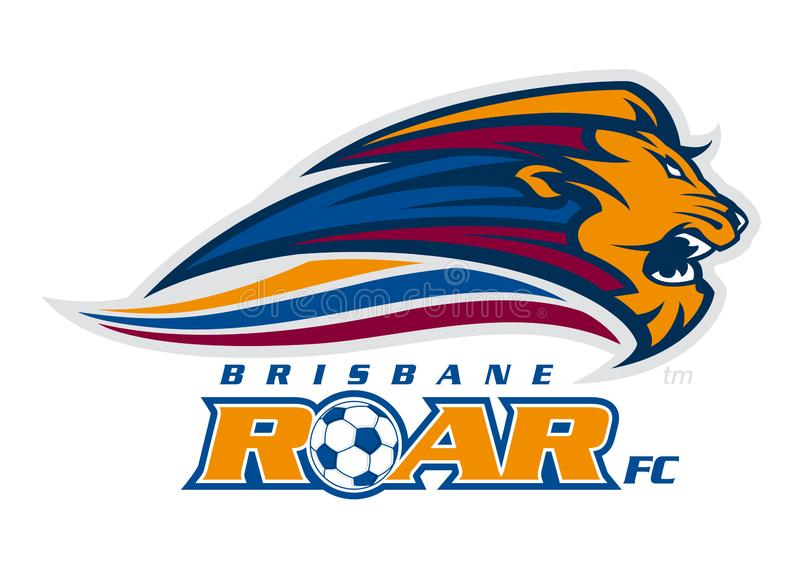 Brisbane Roar Logo redaktionelles stockfoto. Illustration ...