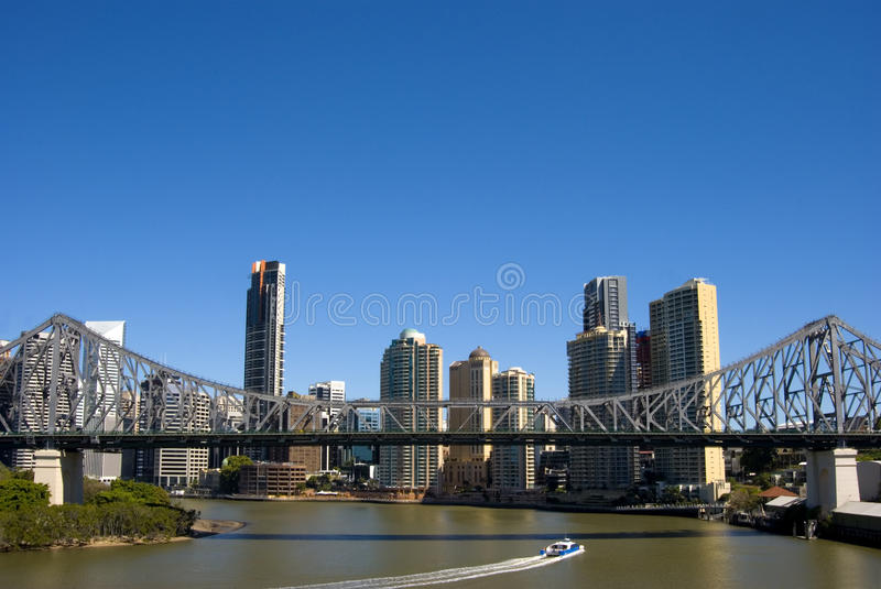 Brisbane-Skyline stockfotos