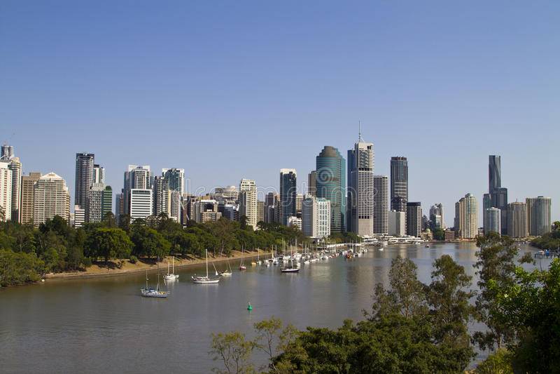 Brisbane-Skyline stockfotos
