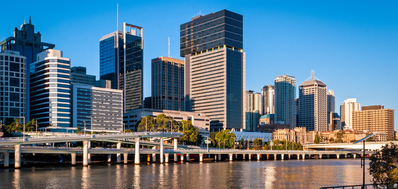 Brisbane-Skyline, Australien lizenzfreie stockfotos