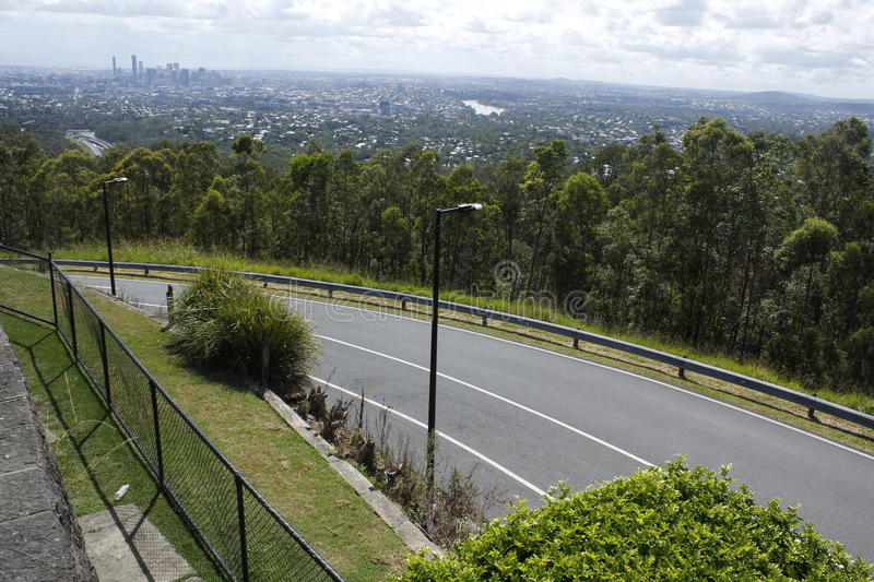 Brisbane skyline from Mt. Coot-Tha stock image