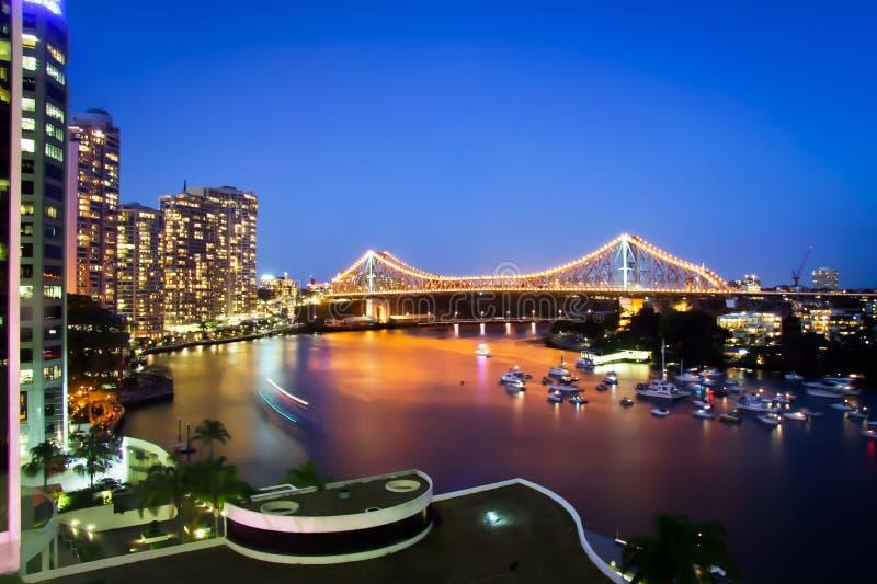 Brisbane-Stadt-Geschoss-Brücke Queensland Australien lizenzfreie stockbilder