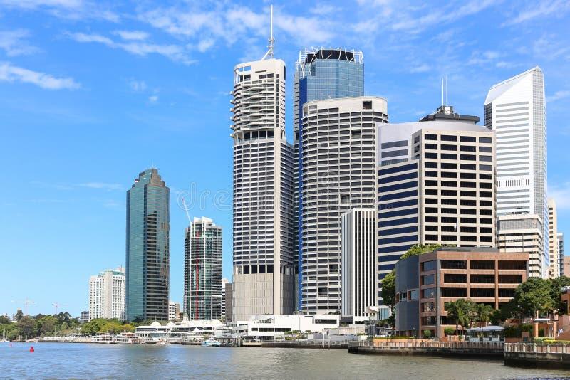 Brisbane-Stadt-Skyline lizenzfreies stockfoto