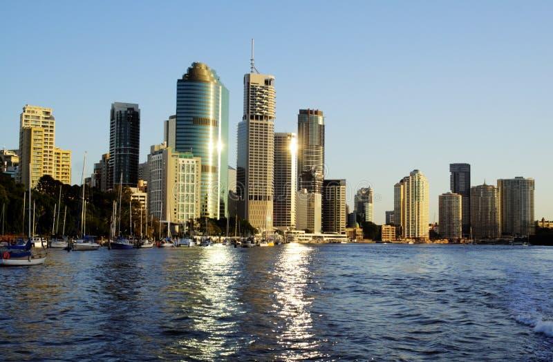 Brisbane-Stadt-Skyline Australien stockfoto