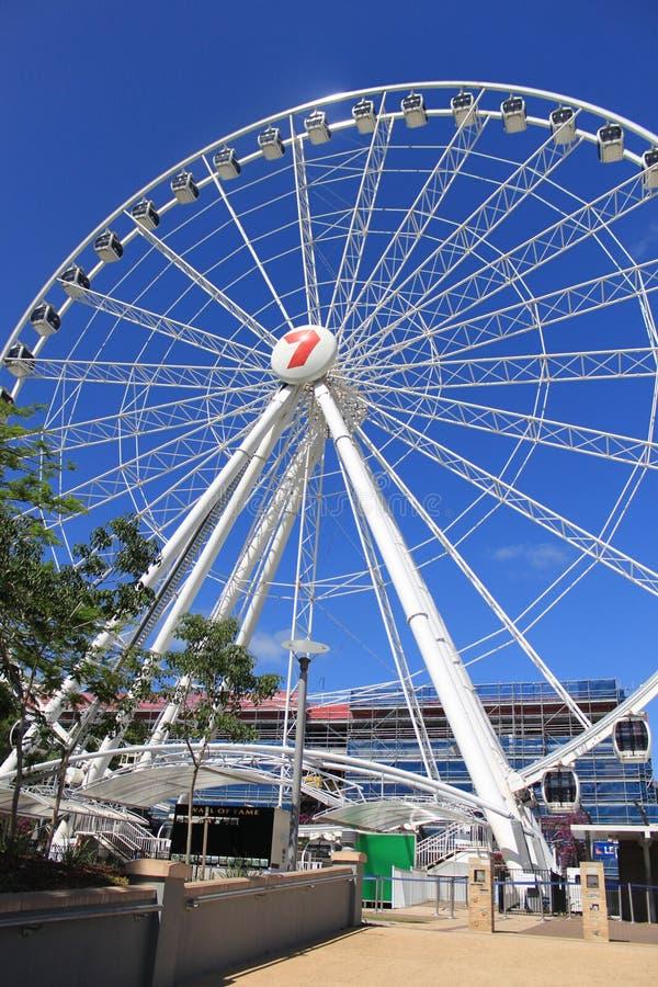 Brisbane Wheel on sunny day, blue sky,9.november 2011. Australia stock image