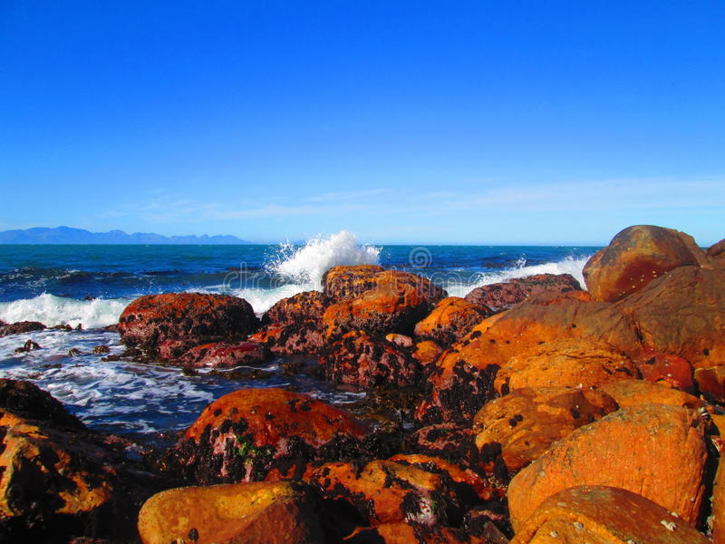 Briseurs d'océan de Shoreline photographie stock