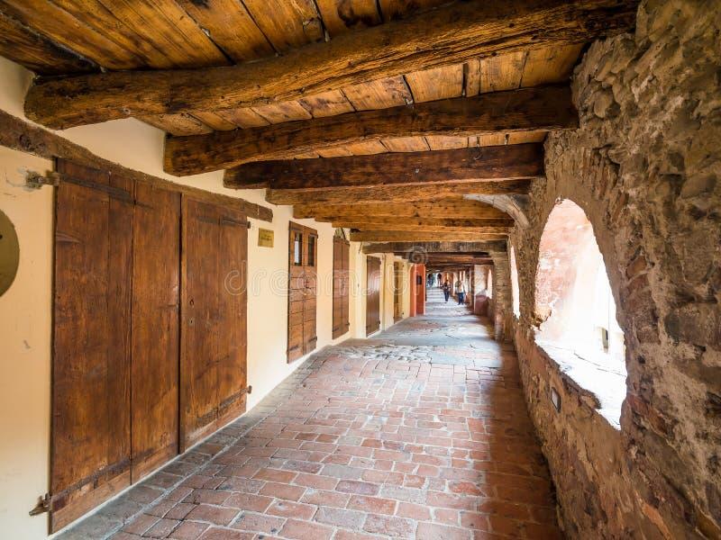 Brisighella, Emilia Romagna, Itali? Via beroemdste straat van degliasini de gimbal royalty-vrije stock afbeeldingen
