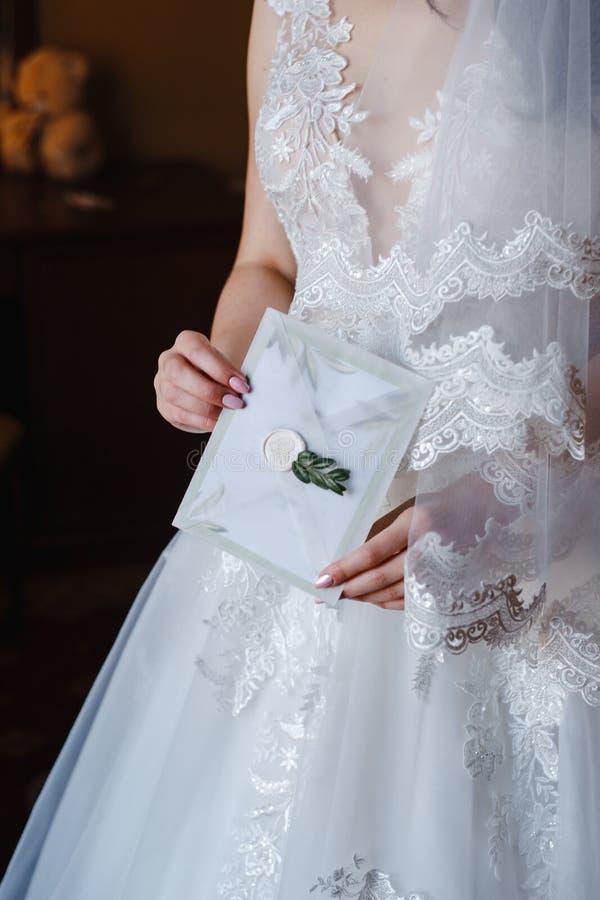 Bristhållare försluten med vitt förseglat vax royaltyfri fotografi